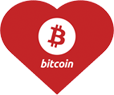 Bitcoin heart icon